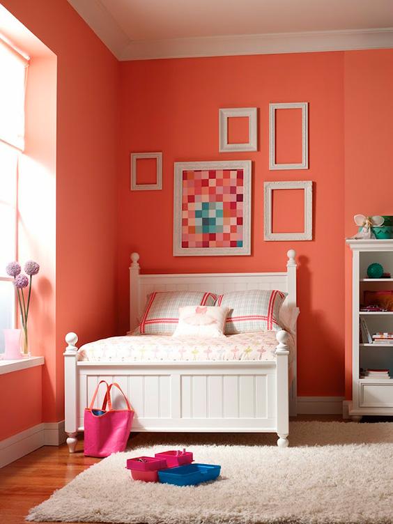 habitacion-pintada-en-color-coral