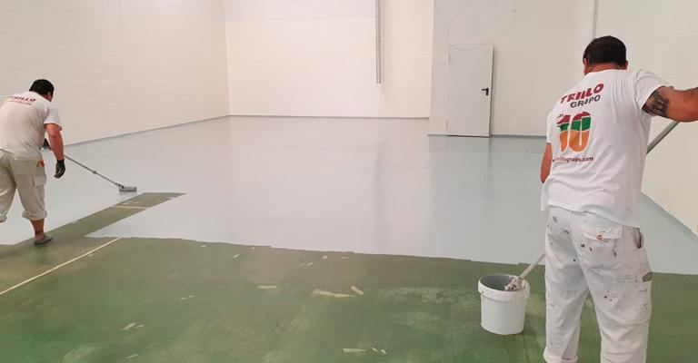 pintores suelo nave industrial sevilla