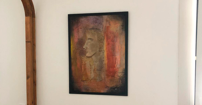 pintura artística relieve