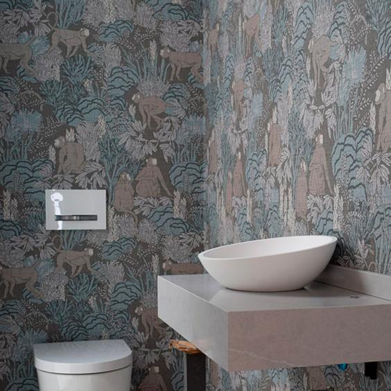 Colocacion papel pintado en baño