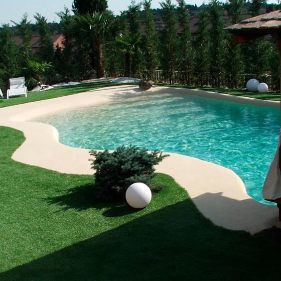 Decoracion jardin piscinas de arena